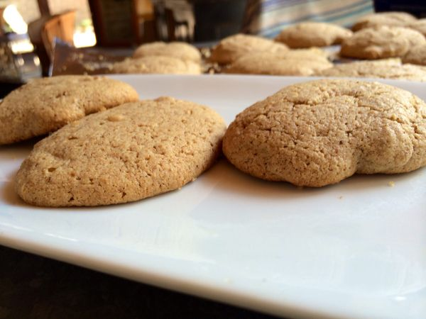 Almond Butter Cookies with Sugar Sprinkles